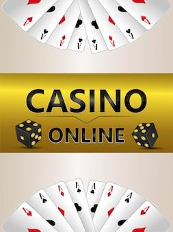 Casino-online-glücksspiel-flyer mit roulette-rad