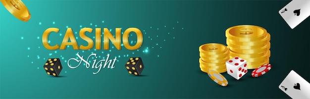 Casino-online-glücksspiel mit illustration