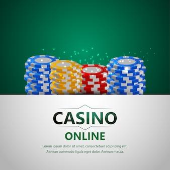 Casino online-glücksspiel mit luxus-hintergrund