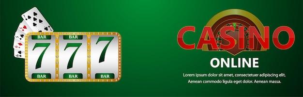 Casino-online-glücksspiel mit spielautomat und spielkarte