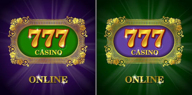 Casino online kalligraphisches set