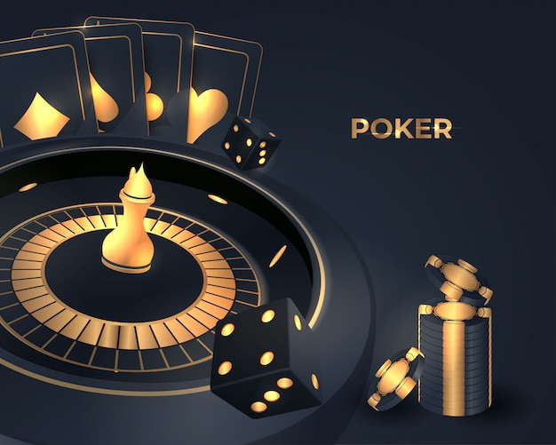 Casino poker roulette-rad