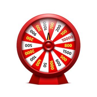 Casino roulette auf weißem hintergrund. illustration.