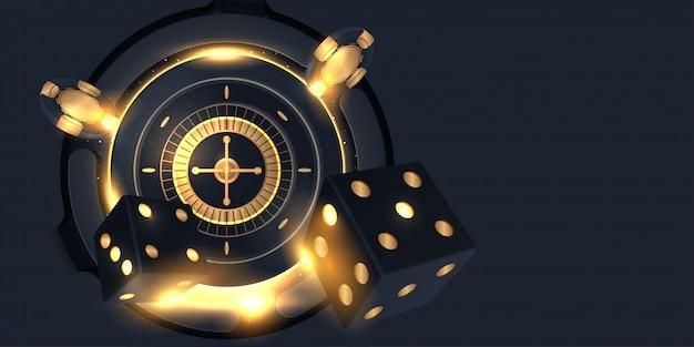 Casino roulette-rad isoliert