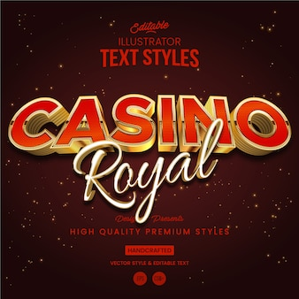 Casino royal text style