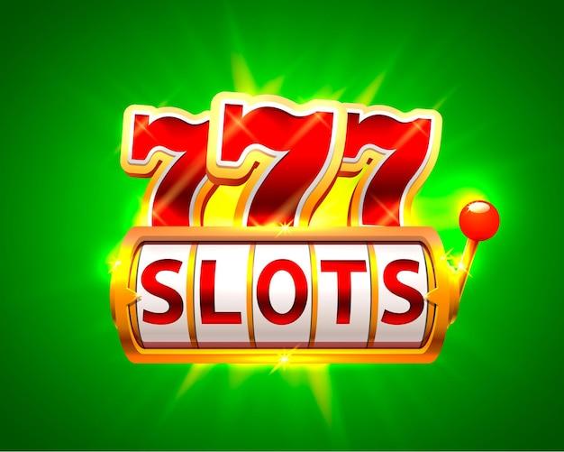 Casino-slots jackpot 777-schild. vektor-illustration