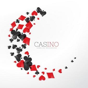 Casino-spielkartenelemente in wellen stil