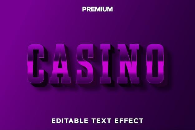 Casino - spieltitelstil texteffekt premium