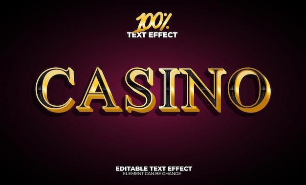 Casino-texteffekt