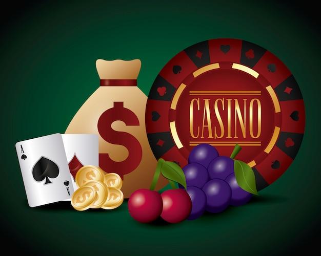 Casino und geldsack