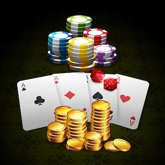 Casino und glücksspiel hintergrund