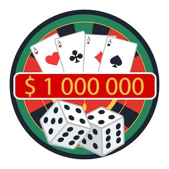 Casino- und glücksspielkonzept. vektor-illustration
