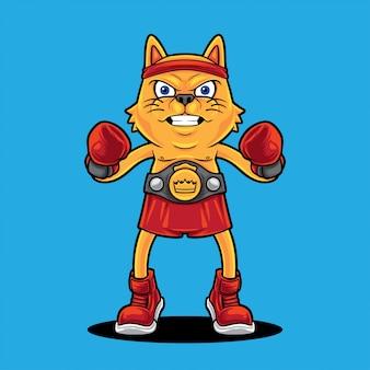 Cat boxing champion