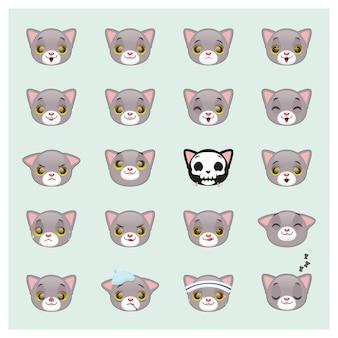 Cat emoticons sammlung