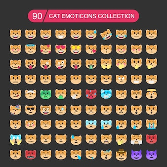 Cat emoticons sammlung.
