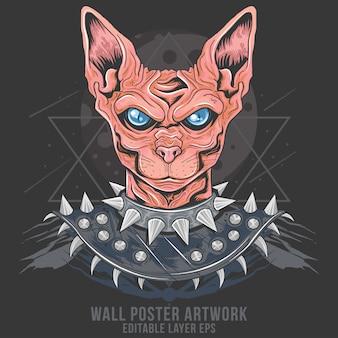 Cat punk rider ägypten metallrocker