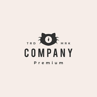 Cat vision ein auge hipster vintage logo vorlage