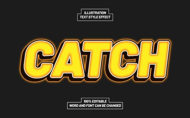 Catch text style-effekt