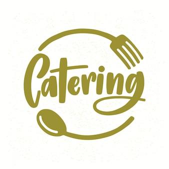 Catering-firmenlogo mit eleganter beschriftung