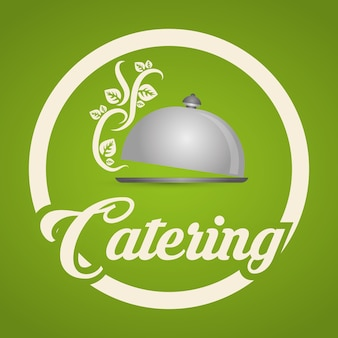Catering-konzept mit icon-design