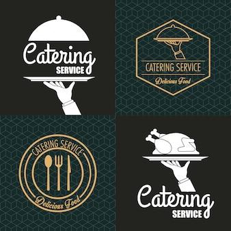 Catering-service emblem bild