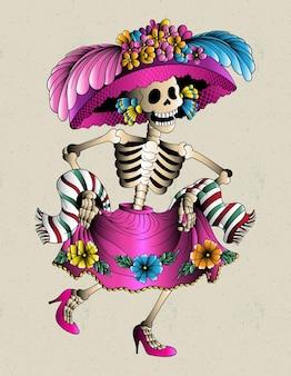 Catrina mexikanischer schädel