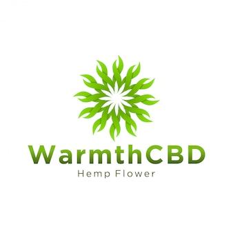 Cbd-logo für legale und medizinische zwecke