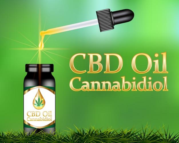 Cbd-öl cannabidiol-produkt