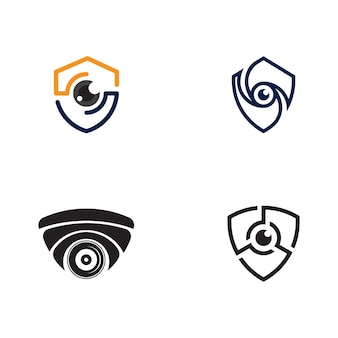 Cctv vektor icon design illustration vorlage