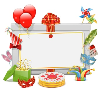 Celebration board isoliert Premium Vektoren