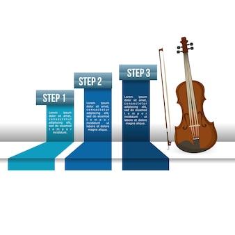Cello musik sound infografik