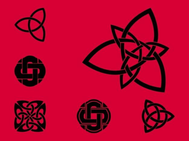 Celtic abzeichen stempel vektor