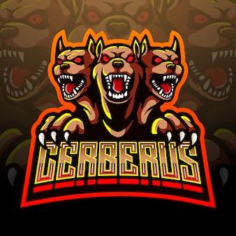 Cerberus esport maskottchen logo design