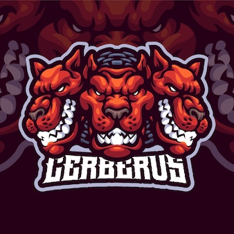 Cerberus maskottchen logo vorlage