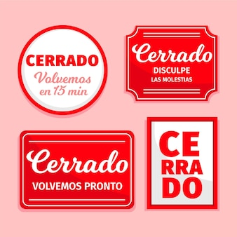 Cerrado-schildpaket mit flachem design