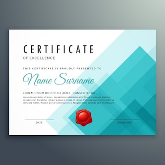 Certificate of excellence vorlage