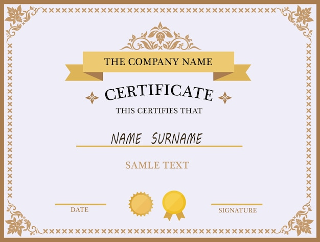 Certificate template-design