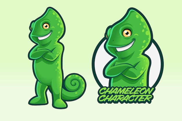 Chamäleon charakter design