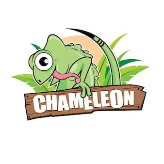 Chamäleon-charakter-design