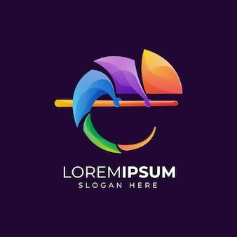 Chamäleon logo design premium print