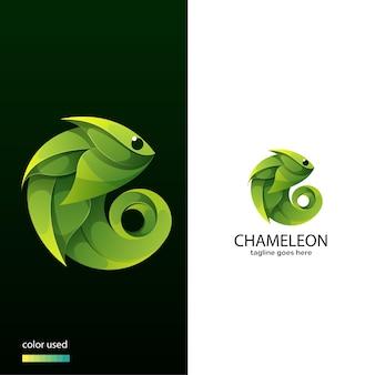 Chamäleon-logo-konzept
