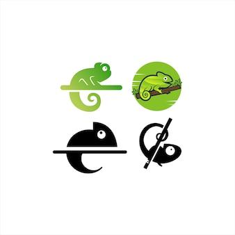 Chamäleon logo vektor icon illustration