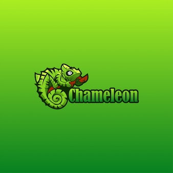 Chamäleon-logo-vektor