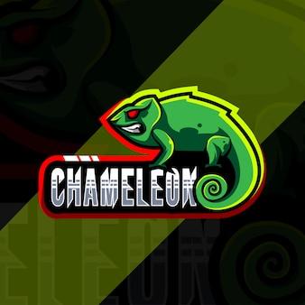 Chamäleon maskottchen logo design