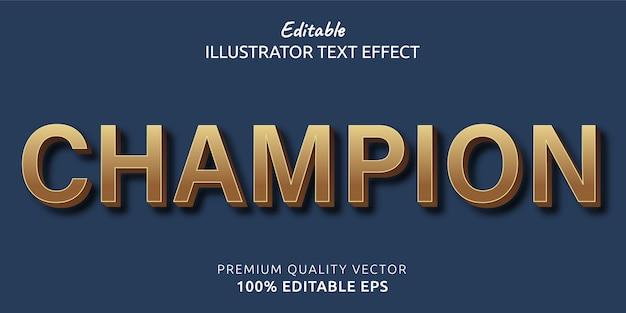 Champion bearbeitbarer textstil-effekt