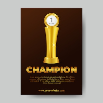 Champion-trophäenplakat