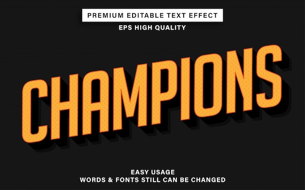 Champions text style-effekt