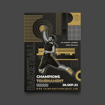 Champions turnier poster design