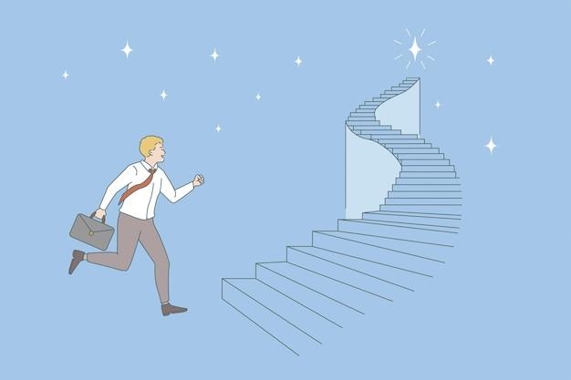 Chancen und geschäftskarrierekonzept