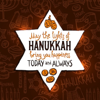Chanukka-feiertags-karte